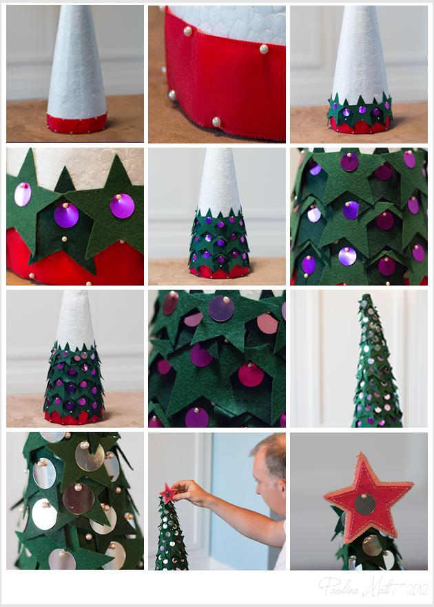 Homemade felty Christmas Tree - The Process
