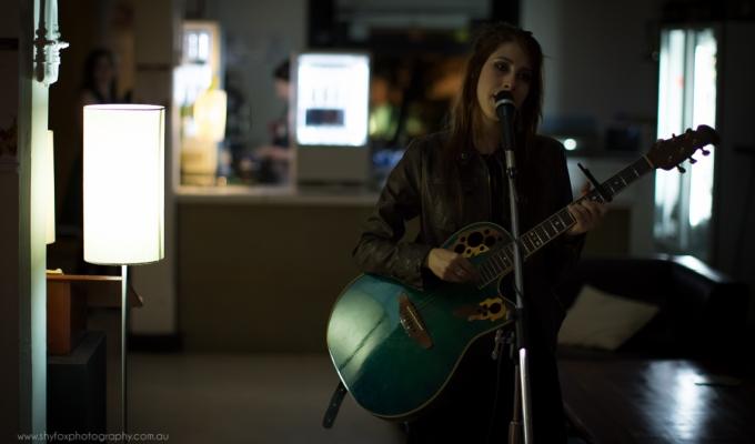 Songstress by lamplight